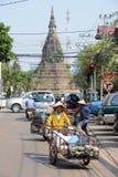 Stupa av det fördämningtempel på Vientiane Royaltyfri Fotografi