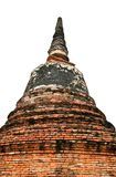 Stupa at Ayudhya Thailand Stock Photos
