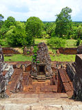 Stupa Base Ruins at Prae Roup Temple in Siem Reap Stock Photos
