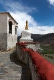 Stupa bianco al palazzo di Yumbulakhang immagini stock libere da diritti