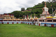 Stupa bij Swayambhunath-Tempel, Katmandu, Nepal Royalty-vrije Stock Afbeeldingen