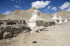 Stupa blanco Foto de archivo libre de regalías