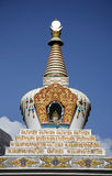 Stupa on blue sky, annapurna Royalty Free Stock Photos