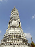 Stupa in blue sky. Of thai style Stock Image
