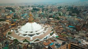 Stupa Bodhnath Κατμαντού, Νεπάλ - 12 Οκτωβρίου 2018 απόθεμα βίντεο