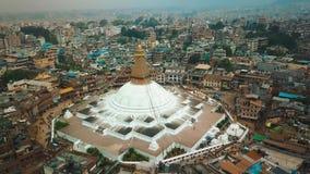 Stupa Bodhnath Катманду, Непал - 12-ое октября 2018 акции видеоматериалы