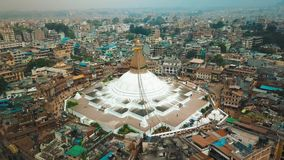 Stupa Bodhnath Катманду, Непал - 12-ое октября 2018 сток-видео