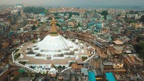 Stupa Bodhnath Катманду, Непал - 12-ое октября 2018 видеоматериал