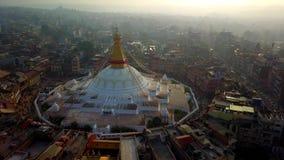 Stupa Bodhnath Kathmandu, Nepal - October 26, 2017 stock video footage