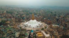 Stupa Bodhnath Kathmandu, Nepal - 12 de outubro de 2018 filme