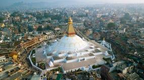 Stupa Bodhnath Kathmandu, Nepal - 26. Oktober 2017 Lizenzfreie Stockfotografie