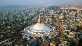 Stupa Bodhnath Kathmandu, Nepal - 26. Oktober 2017 Stockfotos