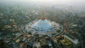 Stupa Bodhnath Kathmandu, Nepal - 26. Oktober 2017 Lizenzfreies Stockbild