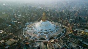 Stupa Bodhnath Kathmandu, Nepal - 26. Oktober 2017 Stockbilder