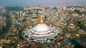Stupa Bodhnath Kathmandu, Nepal - 26. Oktober 2017 Lizenzfreie Stockfotos