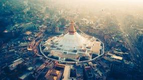 Stupa Bodhnath Kathmandu, Nepal - 26. Oktober 2017 Stockbild