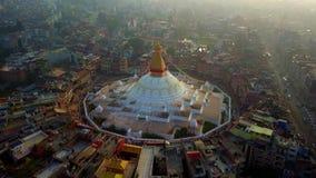 Stupa Bodhnath Kathmandu, Nepal - 26. Oktober 2017 stock video