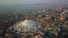 Stupa Bodhnath Kathmandu Nepal, Październik, - 26, 2017 zbiory