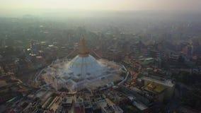 Stupa Bodhnath Kathmandu Nepal, Październik, - 26, 2017 zdjęcie wideo