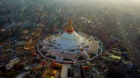 Stupa Bodhnath Kathmandu Nepal, Październik, - 26, 2017 zbiory wideo