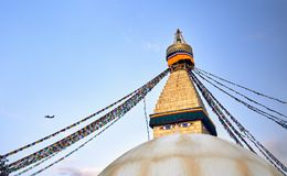 Stupa Bodnath в Катманду Стоковые Изображения RF