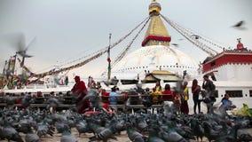 Stupa Bodnath в Катманду видеоматериал
