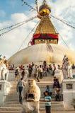 Stupa in Bodnath Fotografie Stock Libere da Diritti