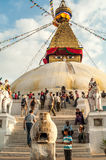 Stupa in Bodnath Royalty Free Stock Photos