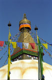 Stupa, Bodnath, Nepal. One of the most important Buddhist site in Nepal is the stupa of Bodnath Stock Image
