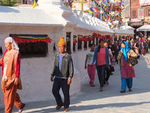 The Stupa of Bodnath, Nepal Stock Photos