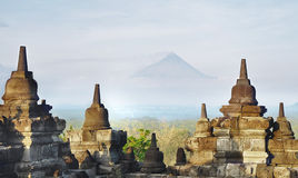 Stupa of Borobodur Stock Images