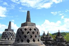 Stupa of borobudur Stock Photo
