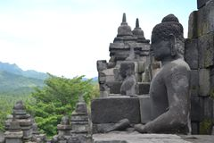 Stupa of borobudur Stock Photography