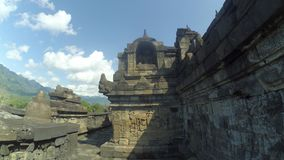 Stupa of Borobudur Temple in Muntilan, Central Java royalty free stock photography