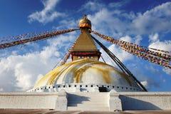 Stupa Bouddanath in Katmandu stock foto's