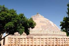 Stupa bouddhiste antique dans Sanchi, Inde photo libre de droits