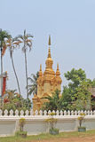 Stupa bouddhiste d'or, Laos Image stock