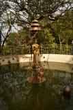 Stupa Boudhanath,尼泊尔 免版税库存图片