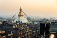 Stupa Boudhanath στο Κατμαντού, Νεπάλ Στοκ Φωτογραφία