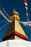 Stupa Boudhanath в Катманду, Непале Стоковые Изображения
