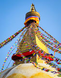 Stupa Boudhanath в Катманду, Непале Стоковая Фотография