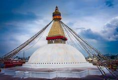 Stupa Boudhanath в Катманду, Непале Стоковое фото RF