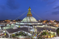 Stupa Boudhanath в Катманду, Непале Стоковое Фото