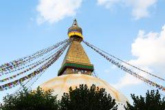 Stupa Boudhanath от Непала Стоковые Изображения
