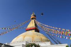 Stupa Boudhanath от Непала Стоковые Изображения RF