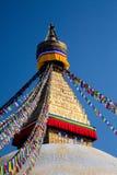 Stupa Boudhanath от Непала Стоковые Фотографии RF