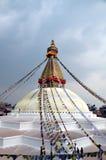 Stupa Buddanath royaltyfri fotografi