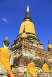 Stupa and Buddha statues Stock Photo