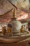 Stupa and Buddha statues in Dambulla Cave Temple, Sri Lanka. Unesco World Heritage Site Stock Photos
