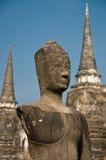 Stupa with Buddha staue Stock Image